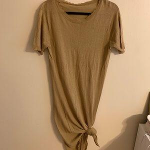 Zara brown distressed dress
